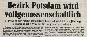 Bezirk Potsdam vollgenossenschaftlich