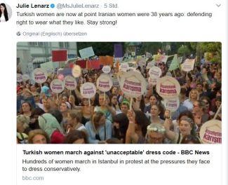 Protest gegen Schleier 2017