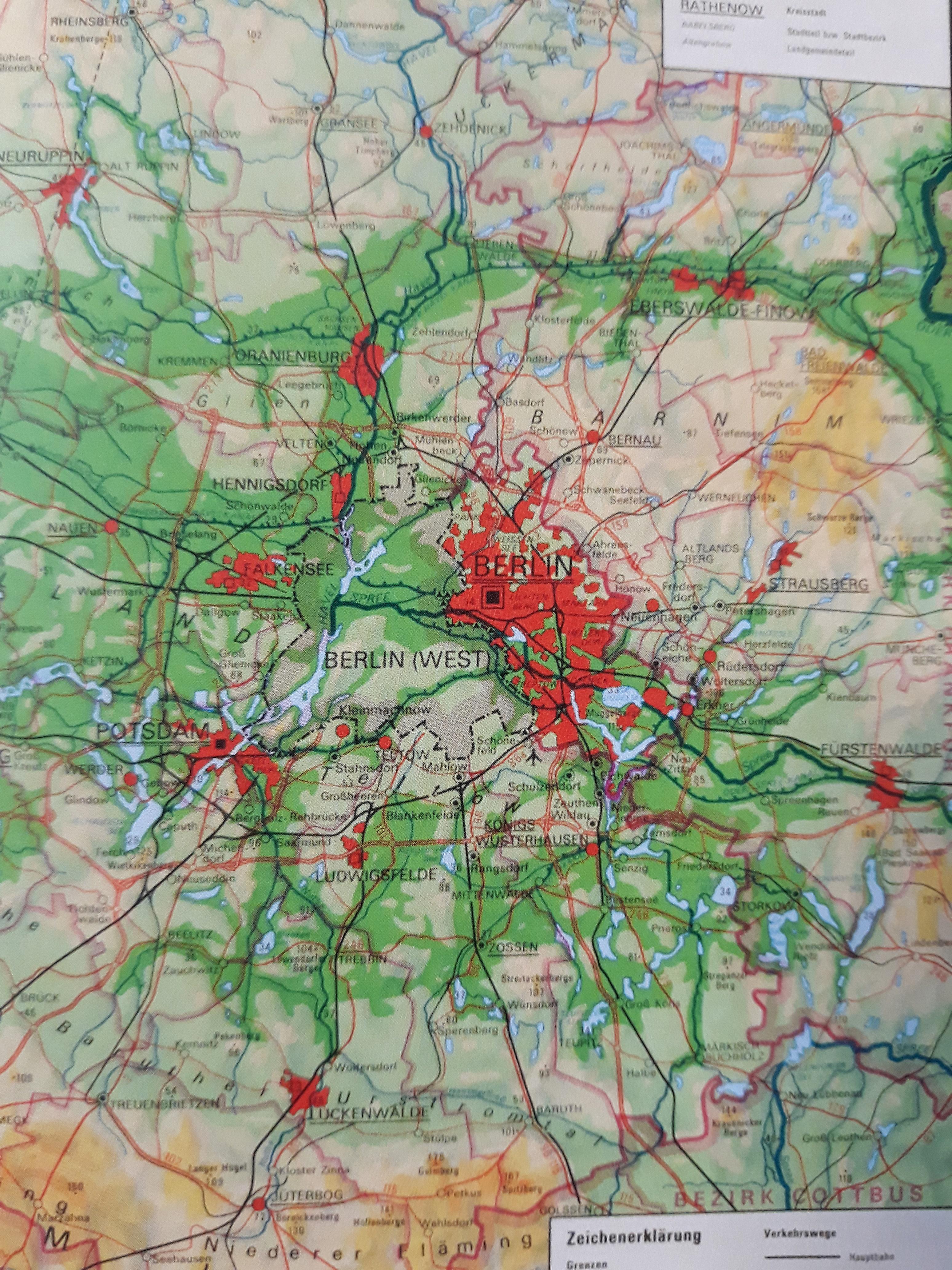 West Berlin Karte.West Berlin Leerstelle Auf Ddr Karten Ampelmaennchen Und